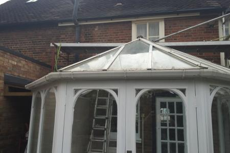 Timber roof before